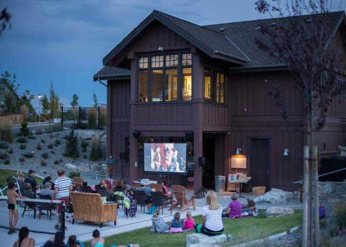 Movie night The Lookout at Lake Chelan